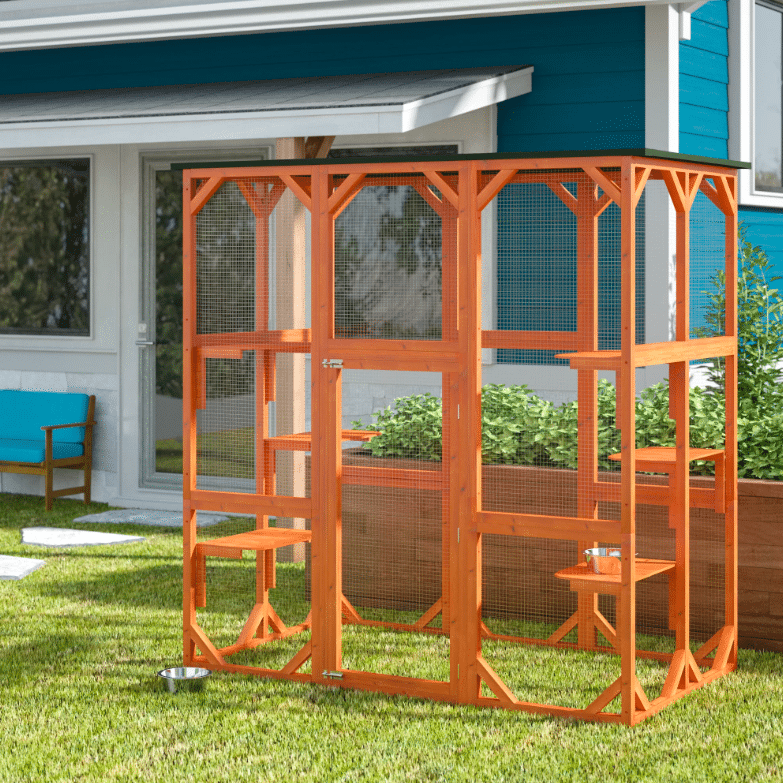 Trixie wood and mesh outdoor playpen for pets