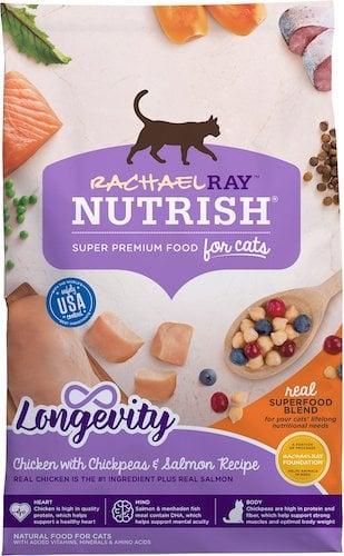 Rachel Ray Nutrish longevity cat food