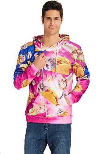 taco cat print sweatshirt for humans