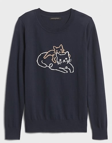 Banana Republic cat sweater for humans