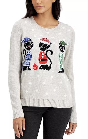Karen Scott cat sweater for humans
