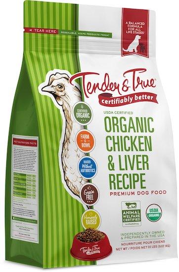 Tender and True organic dog food