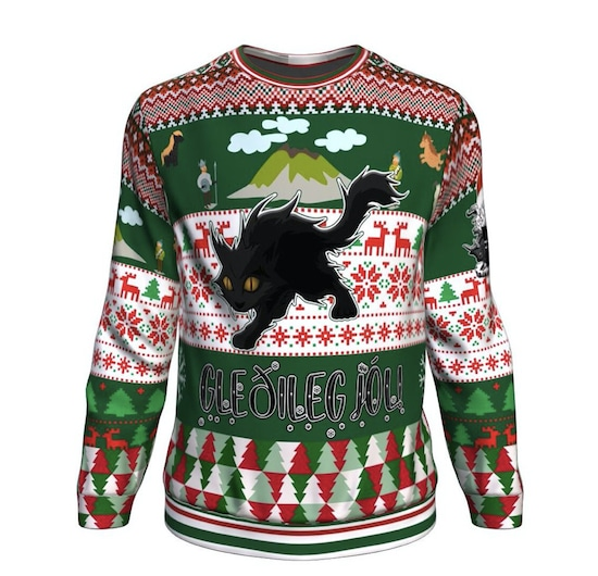 Yule cat sweater for humans