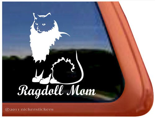 vinyl decal for Ragdoll cat lovers