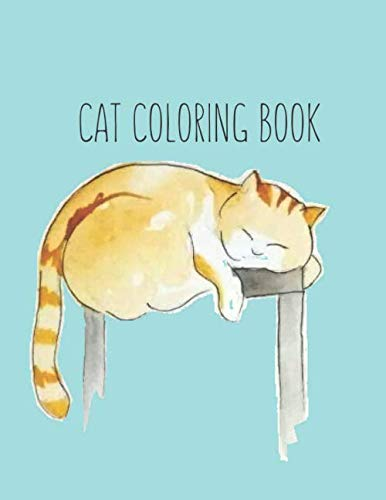 cover of book with sleeping illustrated cat