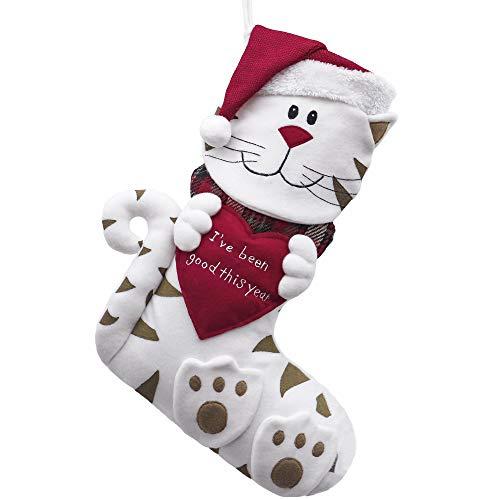 Cat Christmas Stocking Santa I've Been A Good Cat Kitty Pet Animal Paw Print