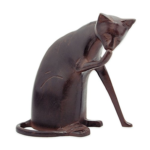 aluminum bronzed garden cat sculpture