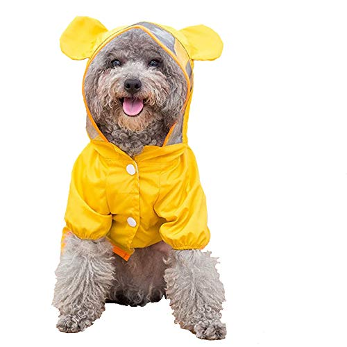 yellow Ccypet small dog raincoat