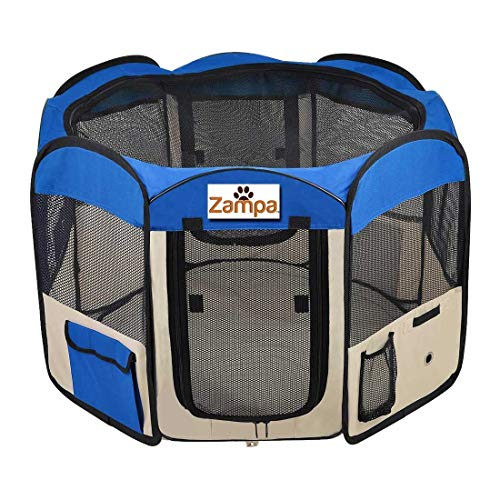 Popup fabric puppy play pen