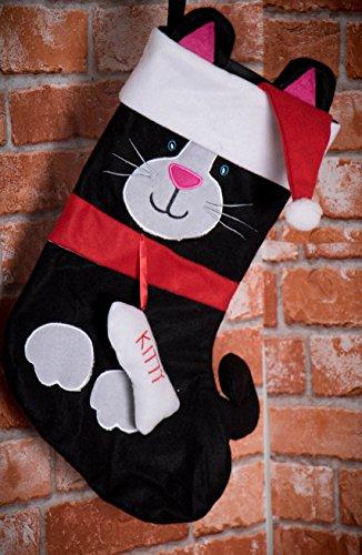 plush Tuxedo cat themed stocking