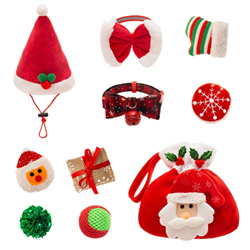 Christmas cat toy set