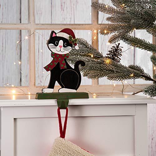 black and white cat stocking hook