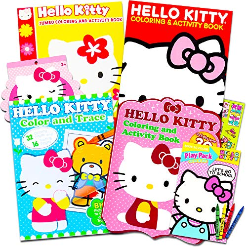 Hello Kitty set of coloring books