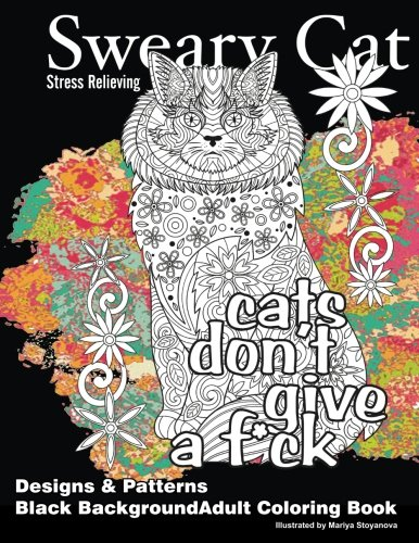 Sweary Cat coloring book