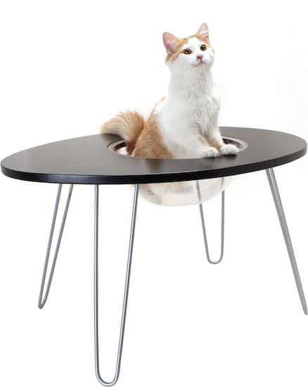 NestEgg side table and cat bed