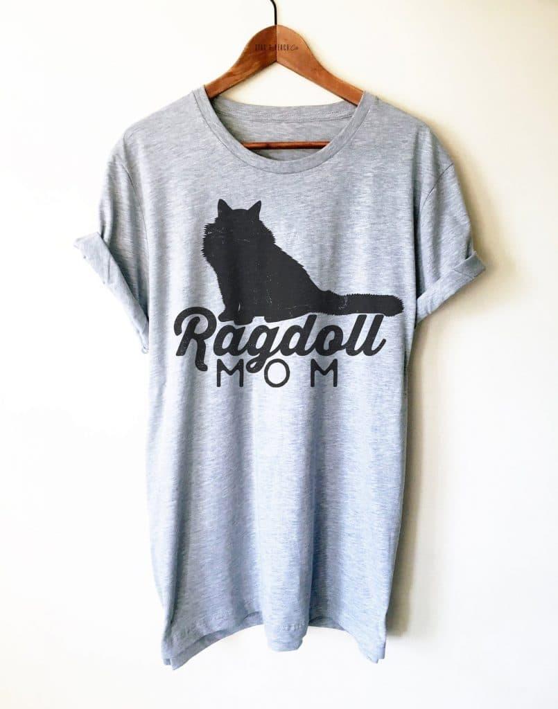 """""""Ragdoll Mom"""" gray t-shirt"""