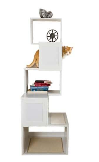 Sebastian modern cat tree, white