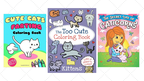three coloring book covers