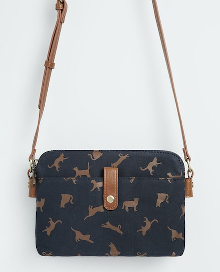 Modcloth crossbody bag with cute cat print
