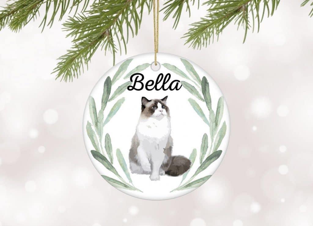 Ragdoll cat lover tree ornament gift