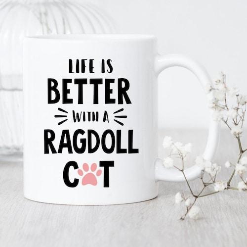 mug for Ragdoll cat lovers
