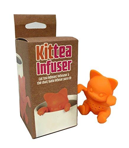 Kittea orange cat tea infuser