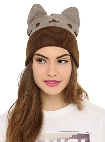 Pusheen knit beanie hat with ears