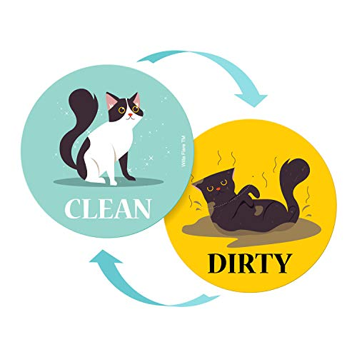 clean/dirty dishwasher magnets; small gift for cat lovers
