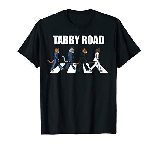 "black t-shirt ""Tabby Road"" image"