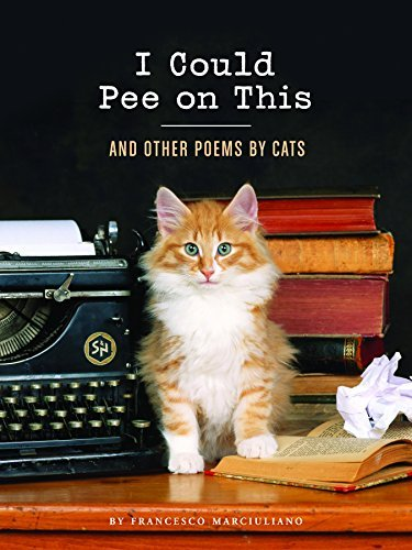 book cover of cat next to typewriter with stack of books