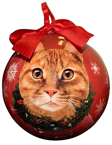 red ornament gift for tabby lovers