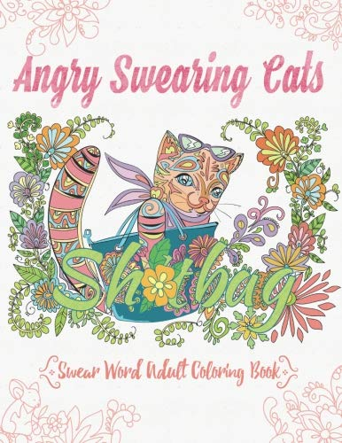 cover of coloring book gift for cat lovers