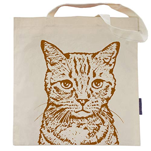 cat print tote bag gift for tabby lovers