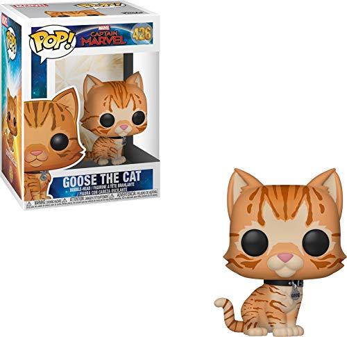 Goose the orange cat character figurine