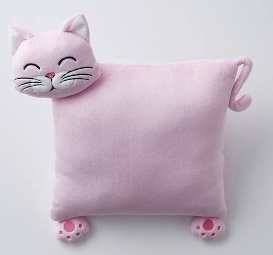 pink cat pillow