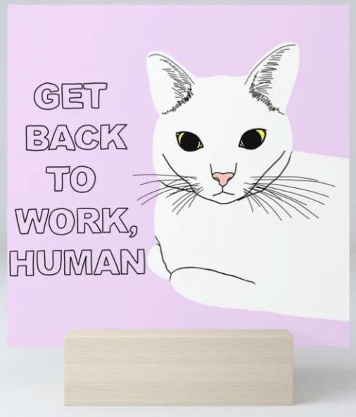 cat illustration art print