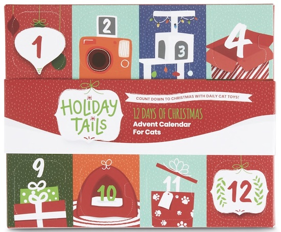 Holiday Tails Advent calendar for cats