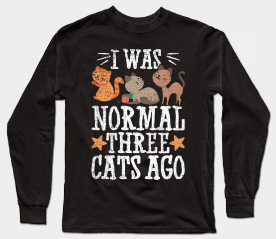 long-sleeve t-shirt gift for cat lovers