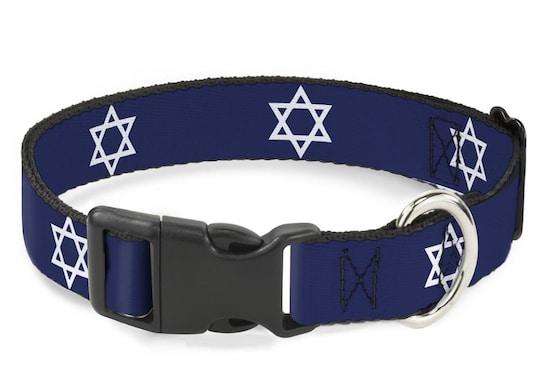Star of David Hanukkah collar for cats