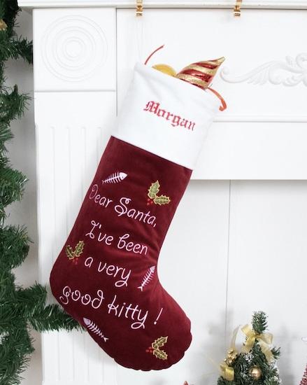 velvet personalized stocking