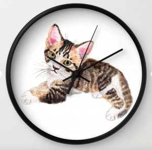 tabby wall clock gift