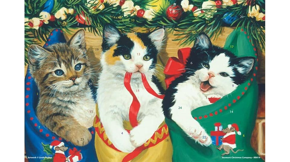cats in stockings Advent calendar
