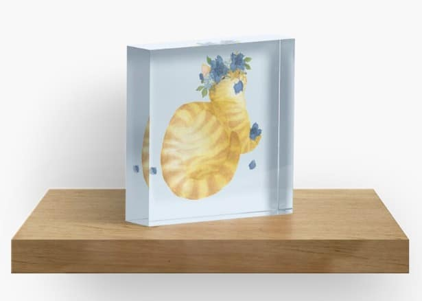 acrylic art block