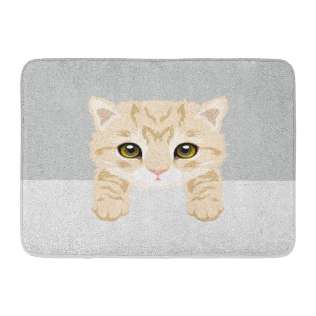 orange cat gift rug