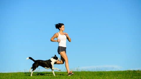 Running with your Dog- 123RF