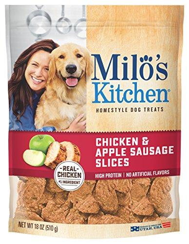 Milo's Kitchen chicken and apple winter dog treats