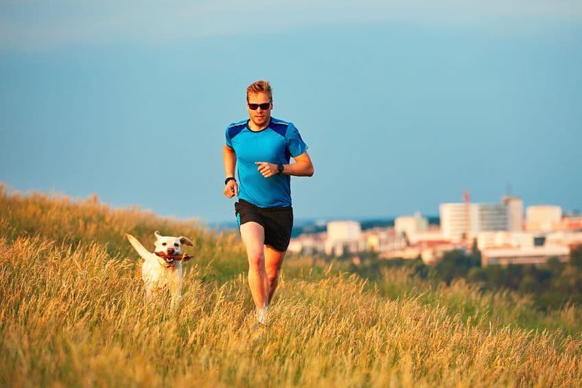 Man Running with Dog - 123rf