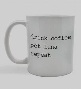 Personalized 'Drink Coffee. Pet Dog. Repeat' Mug
