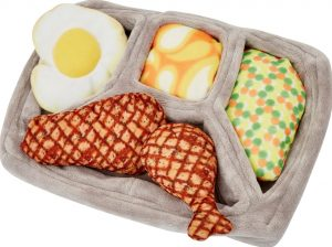 Frisco Retro Microwave Dinner Hide and Seek Plush Puzzle Squeaky Dog Toy