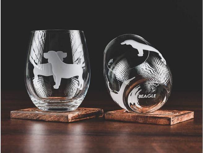 Beagle Gift Wine Glass